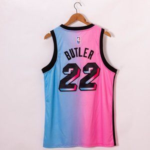 2021 Nike Heat Jimmy Butler Pink City Jersey NBA